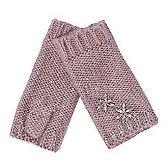RJR.John Rocha - Pink stone embellished hand warmers