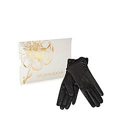 RJR.John Rocha - Black leather gloves