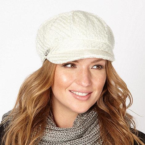 RJR.John Rocha - Designer cream chunky woven cap
