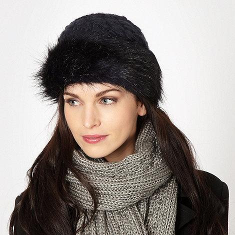 RJR.John Rocha - Designer dark blue faux fur hat