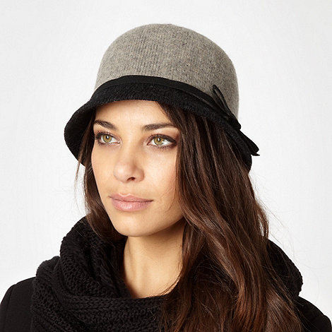 RJR.John Rocha - Designer grey two tone knit cloche hat
