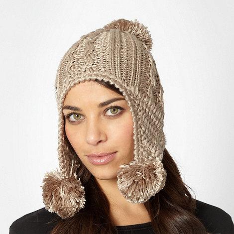 RJR.John Rocha - Designer fawn pom pom trapper hat