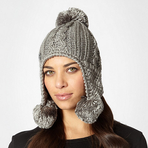 RJR.John Rocha - Designer silver pom pom trapper hat