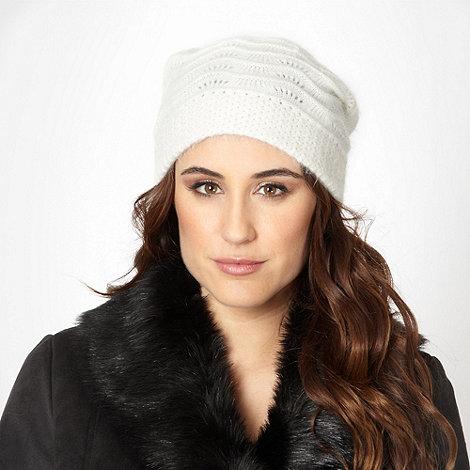 RJR.John Rocha - Designer ivory knitted beanie hat