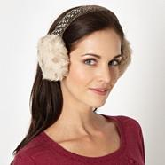 Designer natural beaded ear muffs