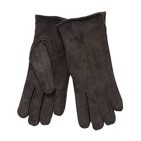 RJR.John Rocha - Chocolate suede three point gloves
