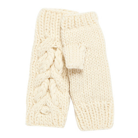 RJR.John Rocha - Designer cream cable knit hand warmers