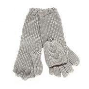 Designer grey 2 in 1 gloves
