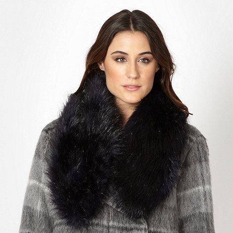RJR.John Rocha - Designer dark blue faux fur scarf