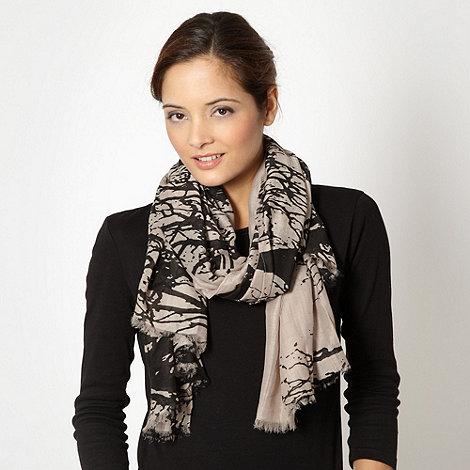 RJR.John Rocha - Designer fawn tree patterned scarf