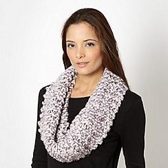 RJR.John Rocha - Designer lilac chunky knit snood