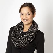 Designer black soft boucle snood
