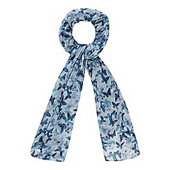 Mantaray - Turquoise butterfly print scarf