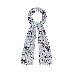Mantaray - Light grey confetti heart print scarf