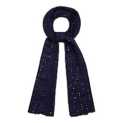 Mantaray - Navy sequin scarf