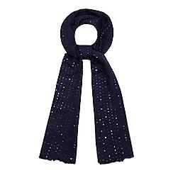 Mantaray - Navy sequin scarf