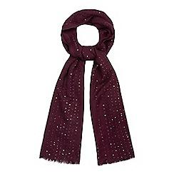 Mantaray - Dark red sequin scarf