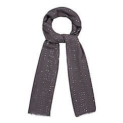 Mantaray - Grey sequin scarf