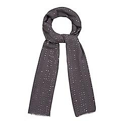 Mantaray - Grey sequin scarf