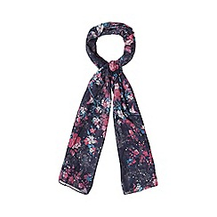 Mantaray - Multi-coloured floral sequinned scarf