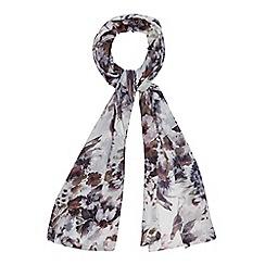 Mantaray - Grey butterfly print scarf