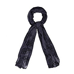 Mantaray - Grey feather embroidered scarf