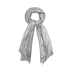Mantaray - Grey pleated scarf