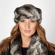 Designer grey faux fur headband