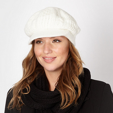 Star by Julien Macdonald - Designer cream cable knit peaked cap