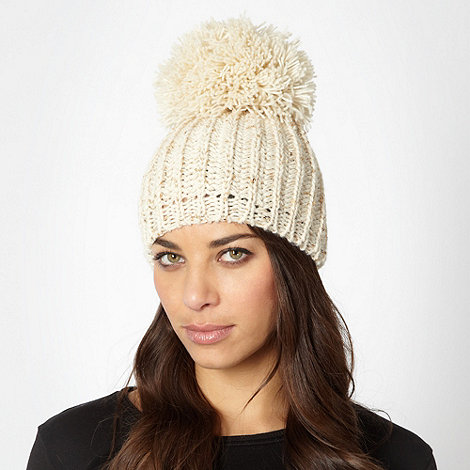 Star by Julien Macdonald - Designer cream sequin knit beanie hat