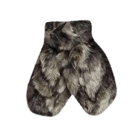 Star by Julien Macdonald - Designer grey faux fur mittens