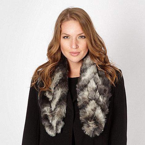 Star by Julien Macdonald - Designer grey faux fur scarf