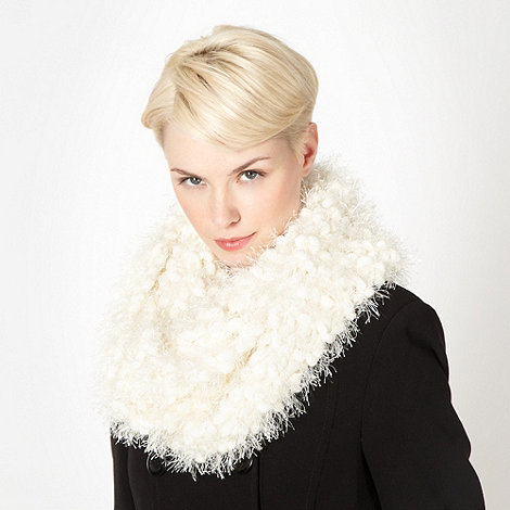Star by Julien Macdonald - Designer cream chenille bobble knit snood