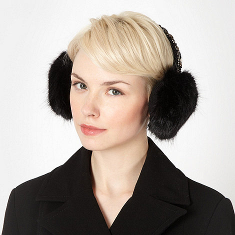 Star by Julien Macdonald - Designer black embellished earmuffs