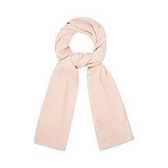 Mantaray - Pink moss stitch scarf