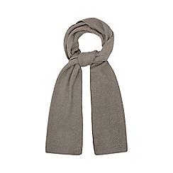 Mantaray - Grey moss stitch scarf