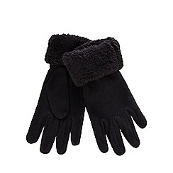 Mantaray - Black fleece gloves