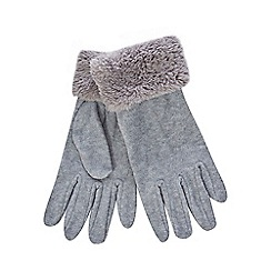 Mantaray - Grey fleece gloves