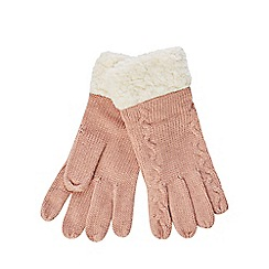 Mantaray - Pink knitted gloves