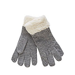 Mantaray - Grey knitted gloves