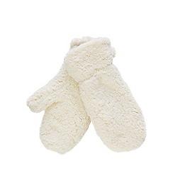 Mantaray - Cream borg mittens