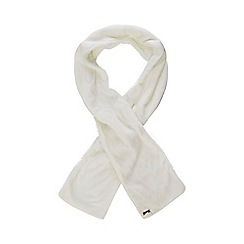 Mantaray - Cream fleece scarf