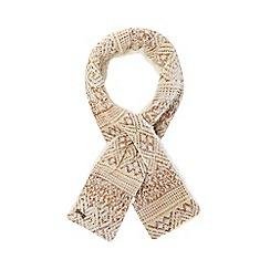 Mantaray - Grey Fair Isle borg scarf