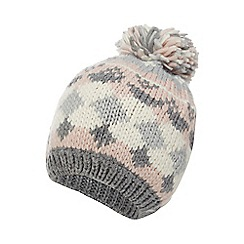 Mantaray - Multi-coloured Fair Isle chunky knit beanie hat