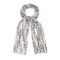 Mantaray - Pink marker print scarf