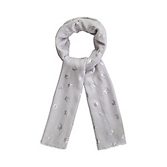 Mantaray - Grey foiled acorn scarf
