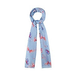 Mantaray - Blue butterfly print scarf