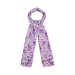 Mantaray - Lilac floral sequinned scarf
