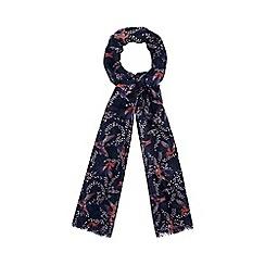Mantaray - Blue hummingbird print scarf