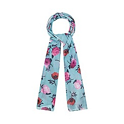 Mantaray - Dark turquoise floral print scarf